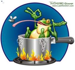 Frog boiling